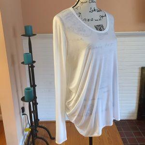 Helmut Lang Curved Long Sleeve T Shirt